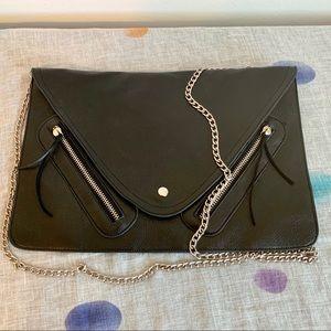 Handbags - Large Black Moto Envelope Clutch Purse Crossbody